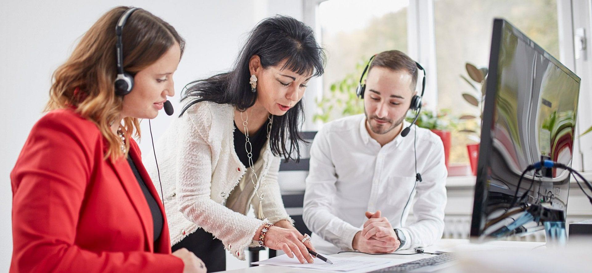 Kunden Kaltakquise Team Besprechnung